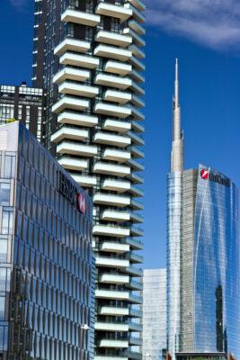 Modern buildings, skyscrapers, roads and traffic in Milano. Dia - LEphotoart.com